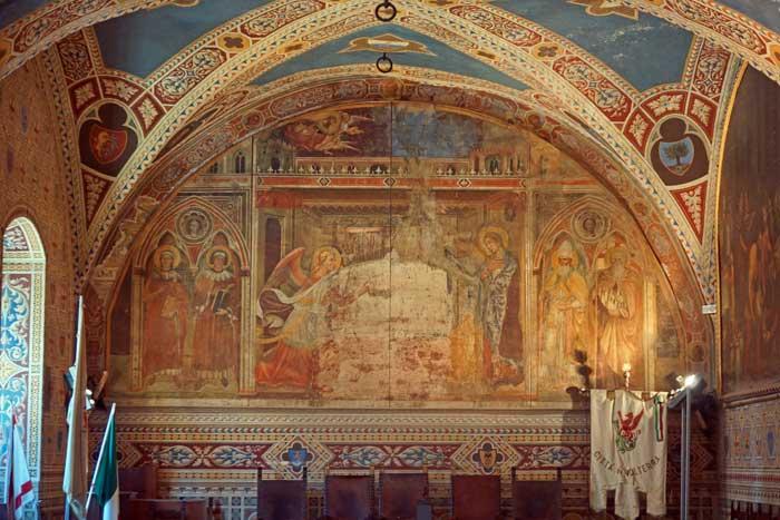 Palazzo dei Priori Interior, Volterra, Italy
