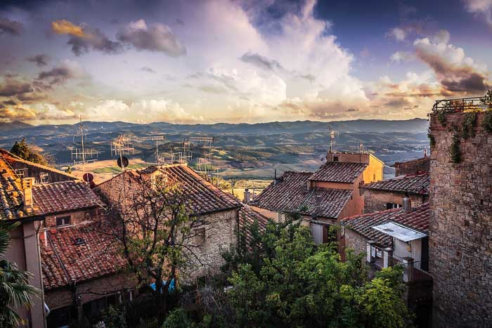 Stunning View of Volterra at Sunset