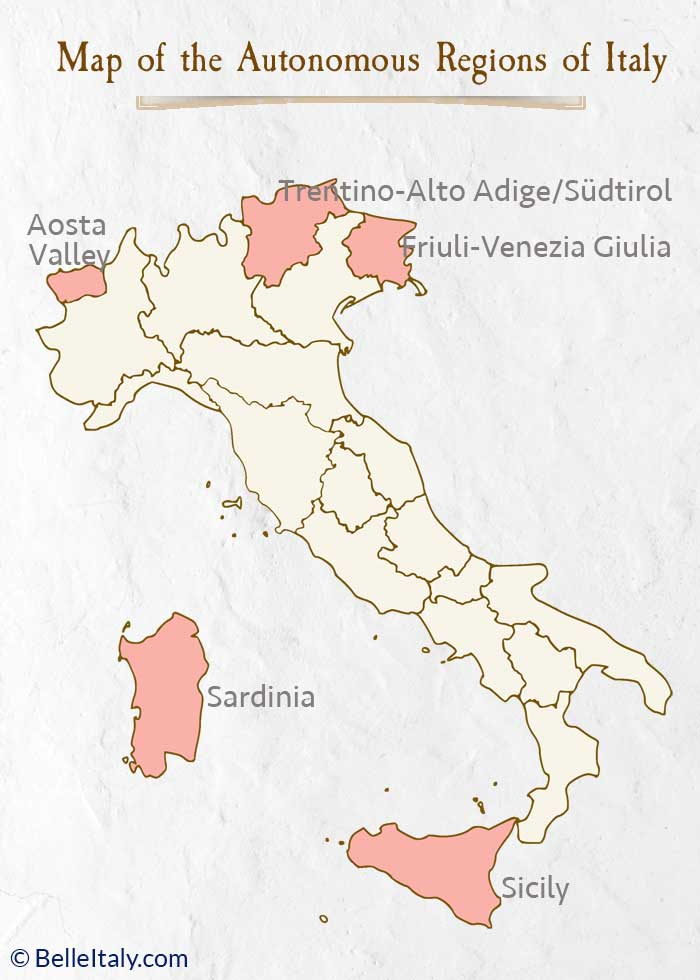 English In Italian: Map Of Italy Regions Helps You Locate Each Italian Region