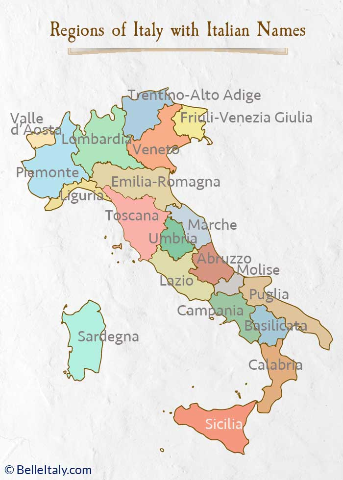 Map Of Italy Regions And Cities.Map Of Italy Regions Helps You Locate Each Italian Region