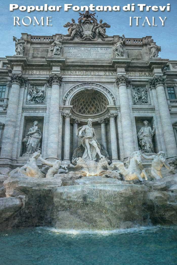 Popular Fontana di Trevi, Rome, Italy