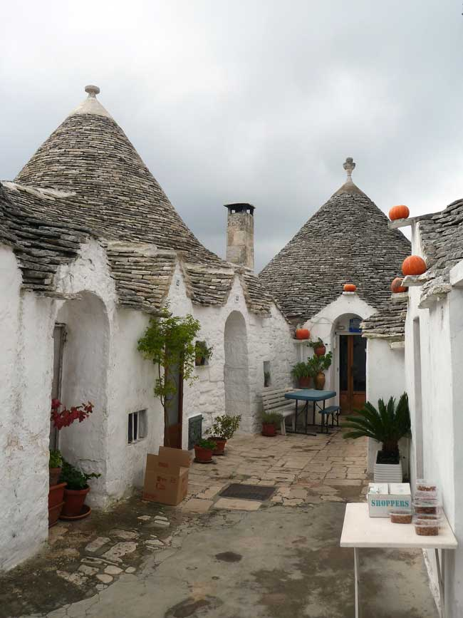 View of the Trulli in Alberobello, Puglia, Italy