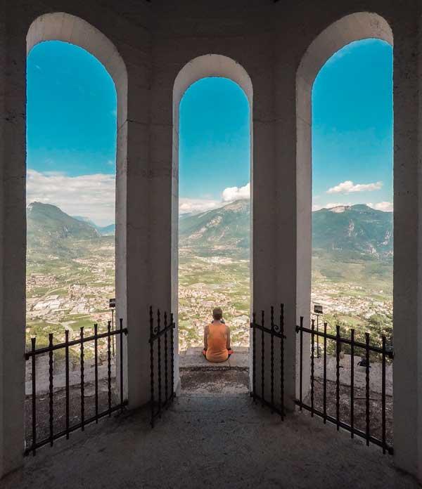 Meditating in Riva del Garda, Italy