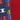 modrá s barevným logem / červená
