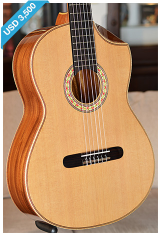 Bellucci Guitars - Hawaiian back and sides, Cedar top Concert Classical Guitar