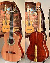 Bellucci Guitars - Cocobolo back and sides, Sinker Redwood top Concert Classical Guitar