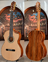 Bellucci Guitars | Bolivian Rosewood back and sides, Cedar top Concert Classical Guitar