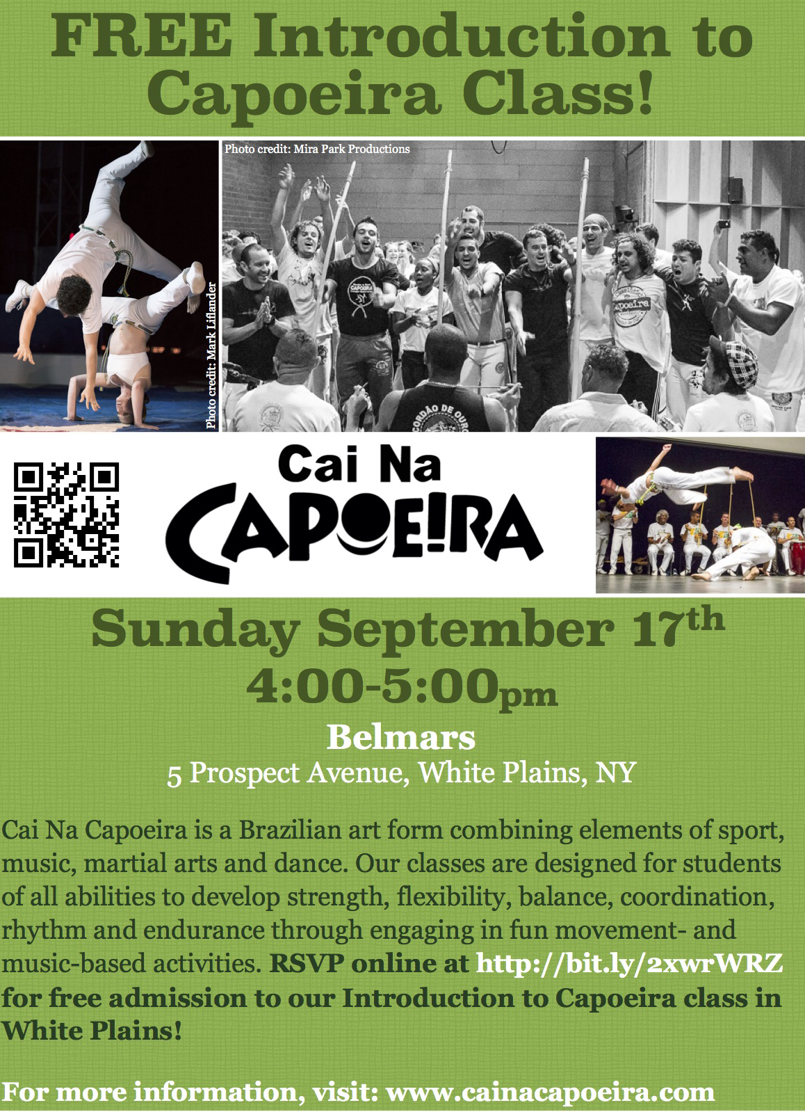 FREE Introduction Capoeira Class