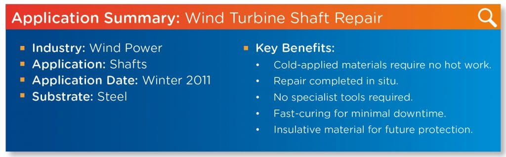 Wind Turbine Shaft Repair
