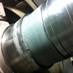 Completed shaft repair using Belzona 1111