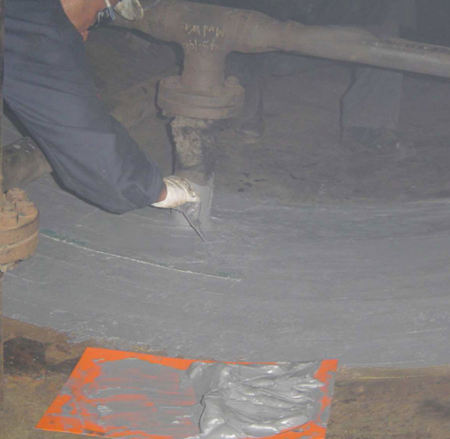 FIGURE 4: Paste-grade material being used for rebuilding purposes.