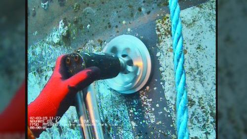 Underwater coating - surface prep