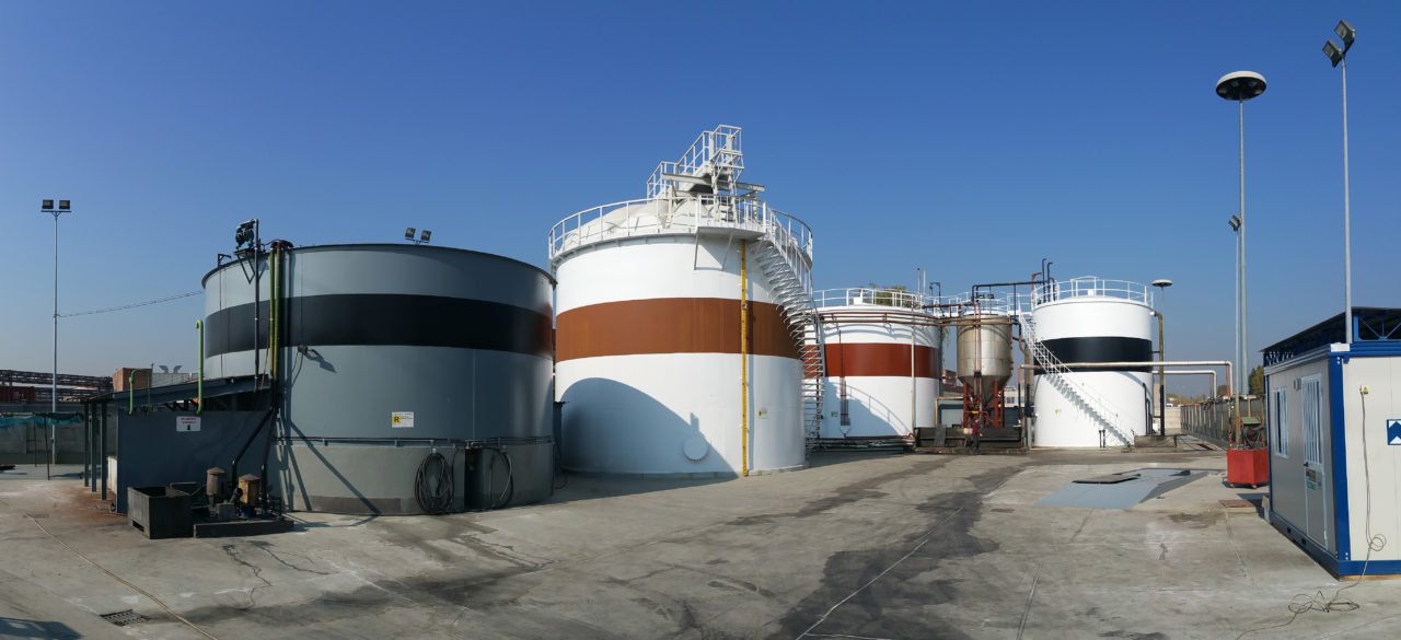 Overview of the refurbished storage tank farm