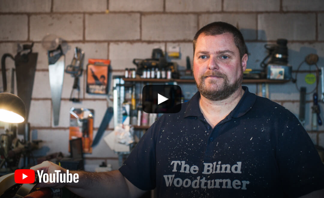 YouTube video - Chris's story | Father, Horror-Film Fanatic and Woodturner