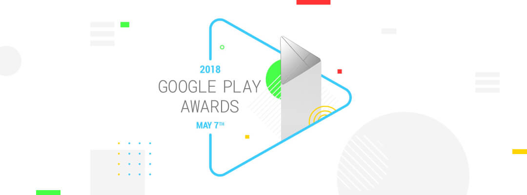 Google Play Awards logo. Be My Eyes was recently selected as a nominee for the annual Google Play Awards in the category of Best Accessibility Experience.