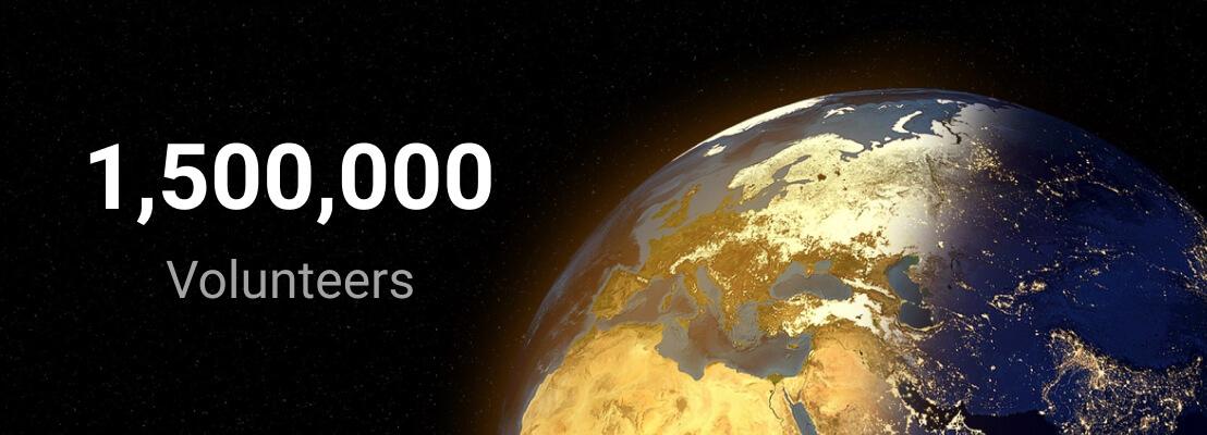New Milestone - 1,500,000 Be My Eyes volunteer signups