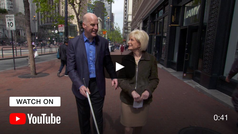 Architect says going blind has made him better at his job - watch on YouTube