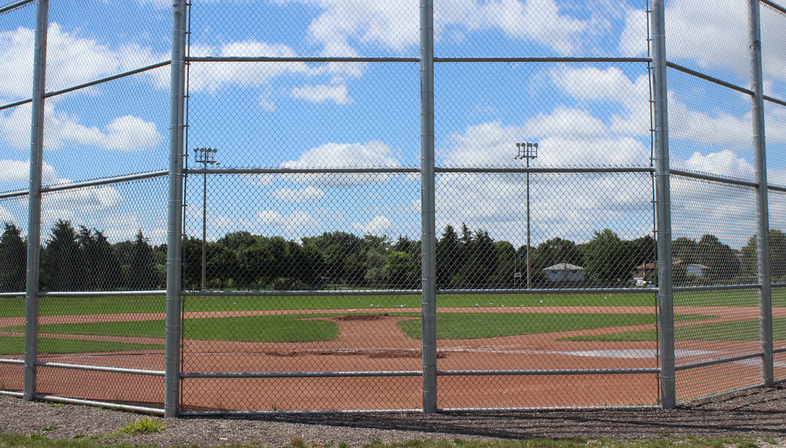 Baseball diamonds at Lions Park