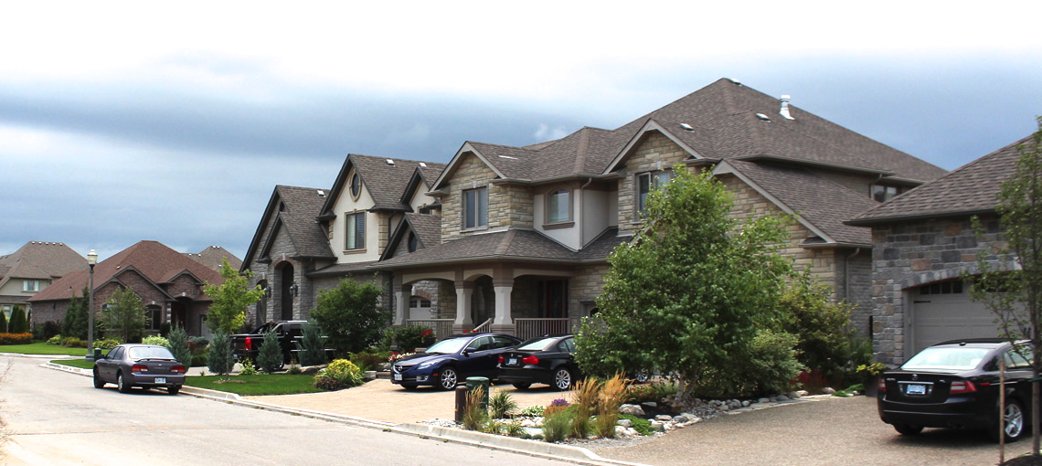 Stunning upper-middle class suburban homes