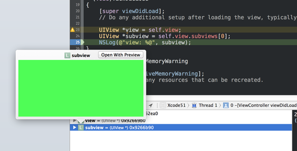 quick look of a view variable