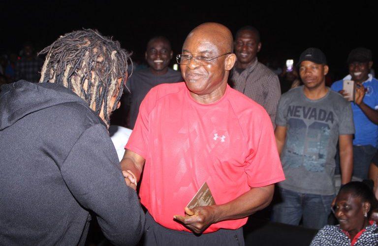 majek fashek and nigerian senator david mark at mark d ball basketball tournament