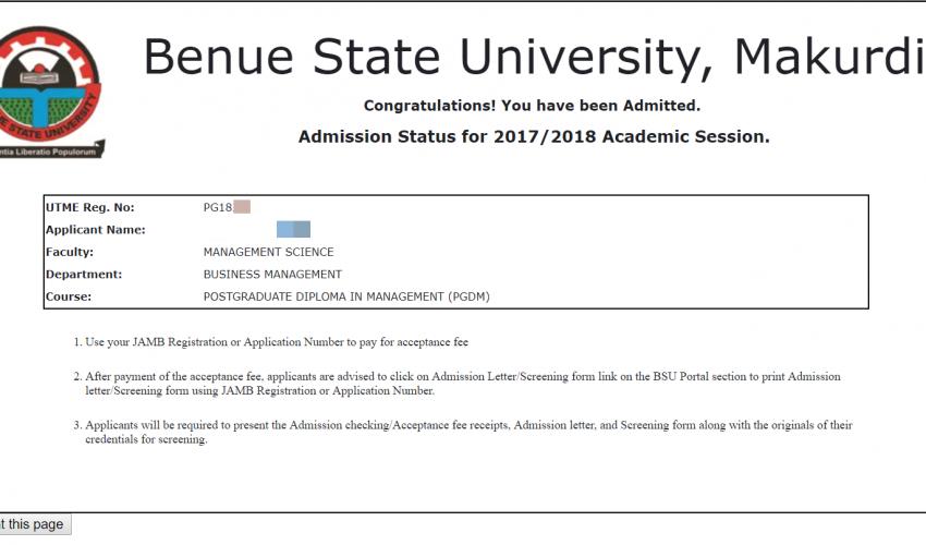 bsu post graduate admission checker