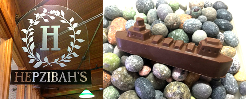 Hepzibah's Sweet Shoppe Sells Chocolate Ore Boats in Duluth, MN