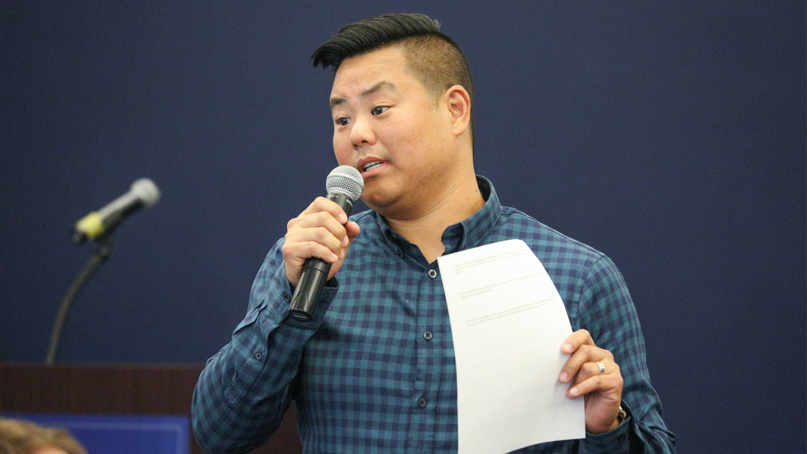Scott Hwang helps administer the University of Michigan's Program on Intergroup Relations.