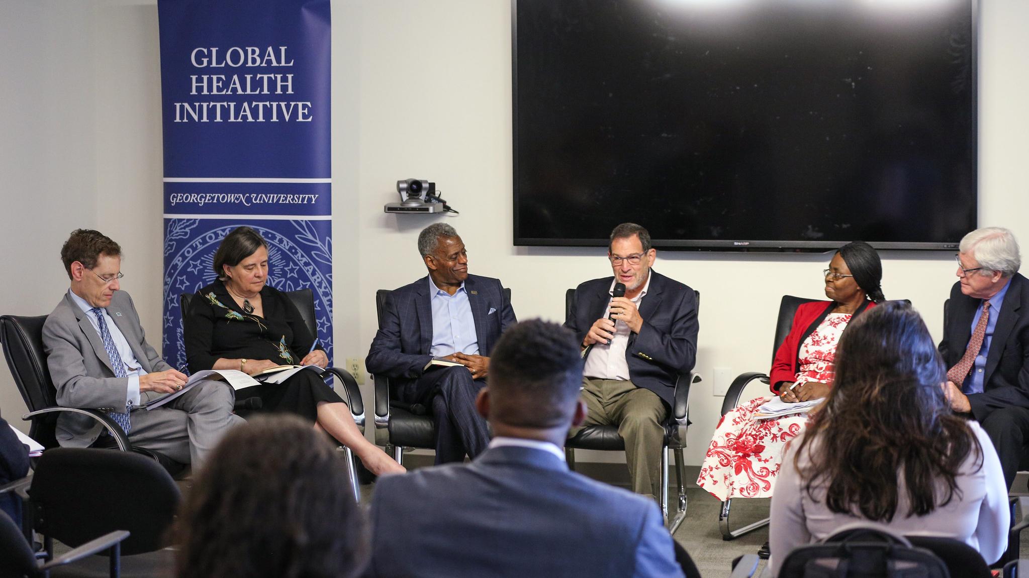 Ambassador Jimmy Kolker speaks on Panel 1.
