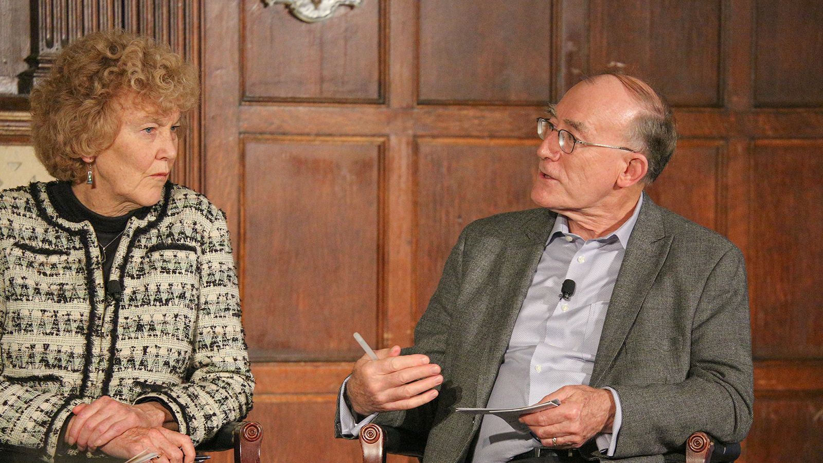 """Mary Evelyn Tucker and John Grim, co-authors of """"Thomas Berry: A Biography"""" participate at the conference."""