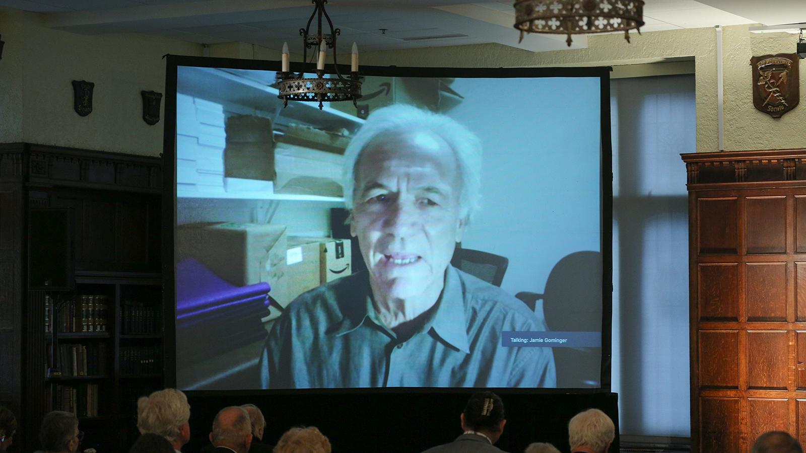 Brian Thomas Swimme of the California Institute of Integral Studies participates via Zoom.