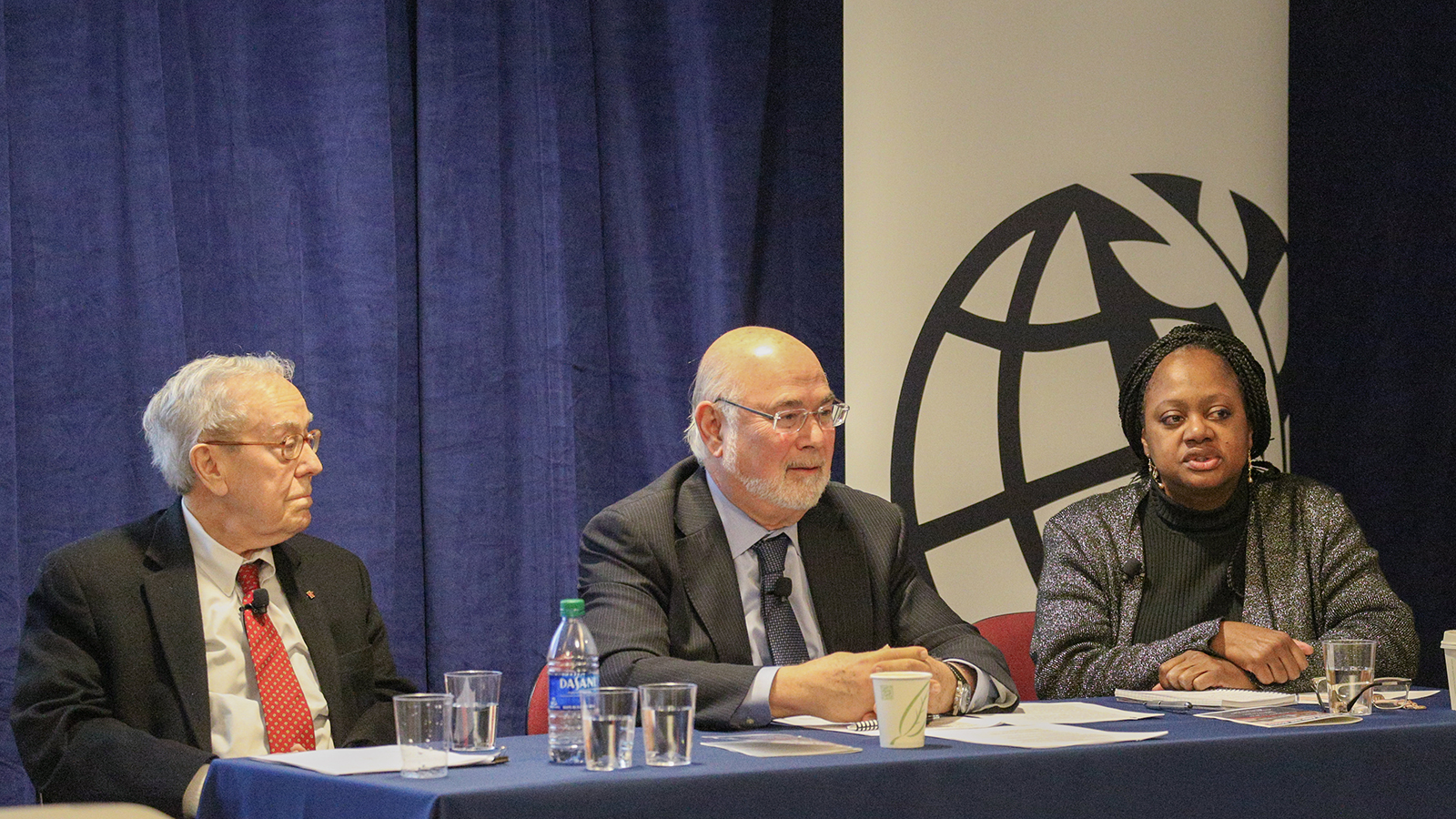 """Approaches to Nuclear Disarmament"" panel featuring James Goodby, Jonathan Granoff, and Bonnie Jenkins."