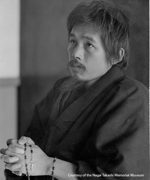 Dr. Takashi Nagai, a Catholic radiologist and author. Photo courtesy of the Nagai Takashi Memorial Museum.