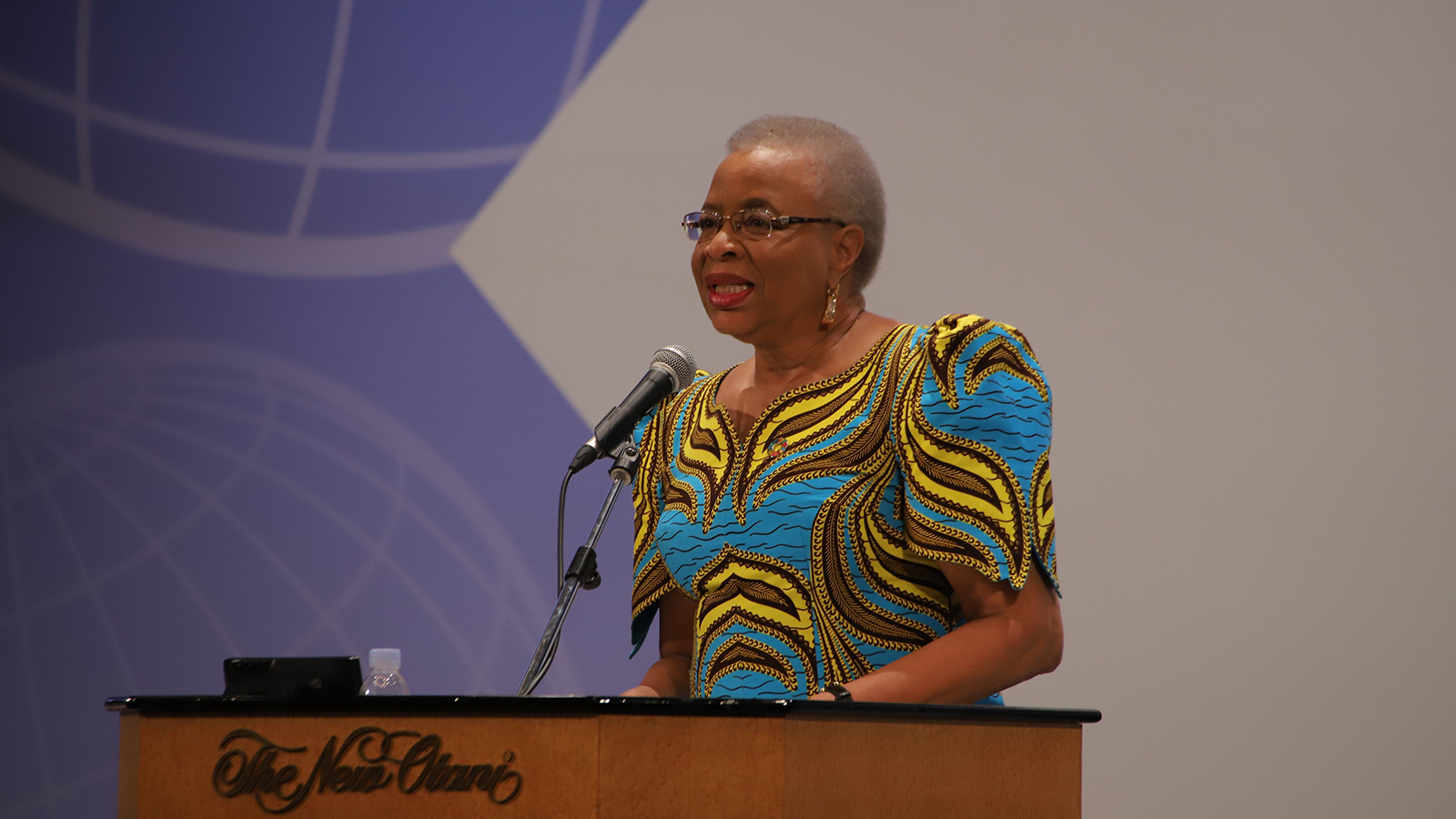 Graça Machel, an international advocate for women and children, spoke powerfully about caring for refugee children.