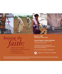 Keeping the Faith: A Multi-Faith Dialogue on Spirituality and International Development