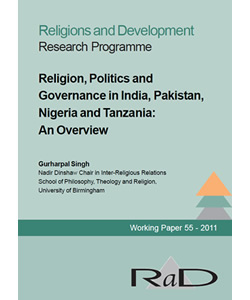 Religion, Politics, and Governance in India, Pakistan, Nigeria and Tanzania: An Overview