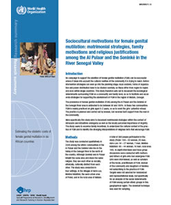 Sociocultural Motivations for Female Genital Mutilation: Matrimonial Strategies, Family Motivations and Religious Justifications Among the Al Pulaar and the Soninké in the River Senegal Valley