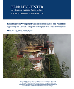 Faith-Inspired Development Work: Appraising the Luce/SFS Program on Religion and Development