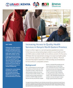 Increasing Access to Quality Health Services in Kenya's North Eastern Province