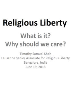 Religious Liberty: What is It, Why Should We Care?