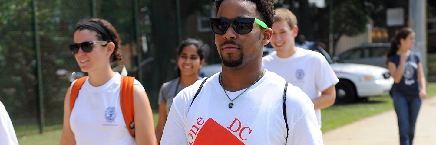 Georgetown Students on a Community Service Project in Washington, D.C.