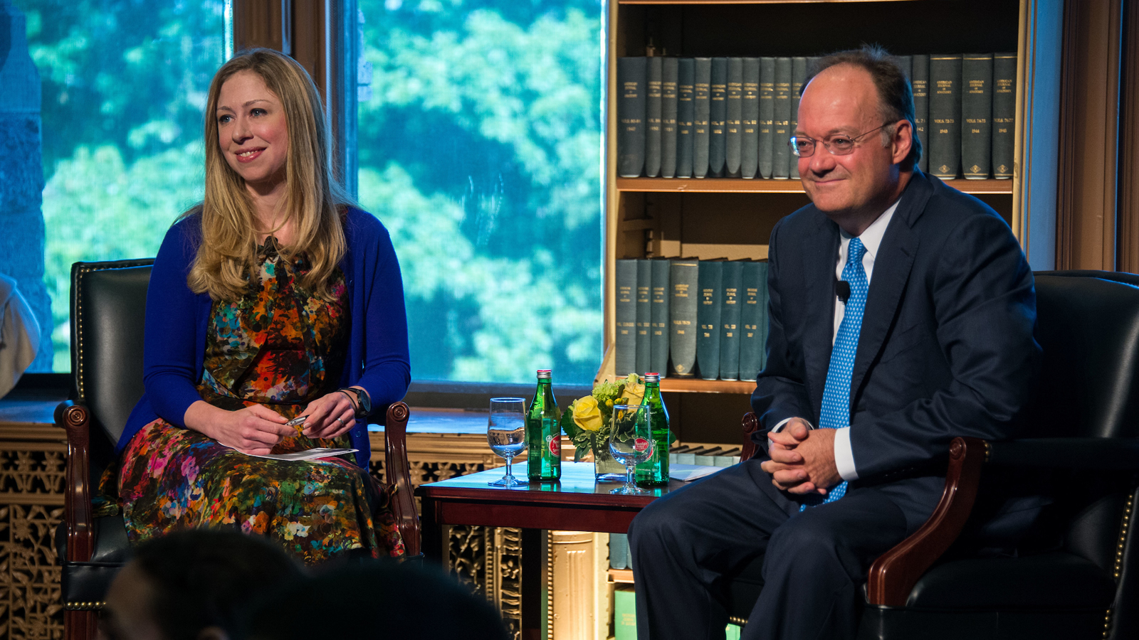 Chelsea Clinton and John DeGioia