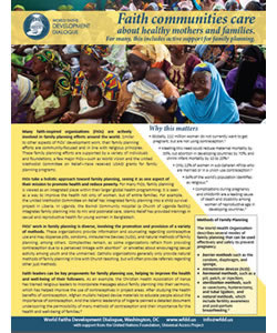 Faith and International Family Planning - Policy Brief
