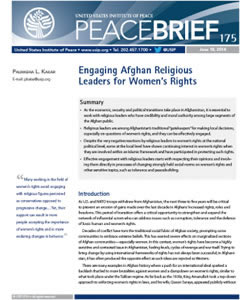 Engaging Afghan Religious Leaders for Women's Rights