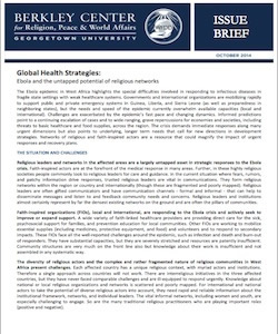 Global Health Strategies: Ebola and the Untapped Potential of Religious Networks