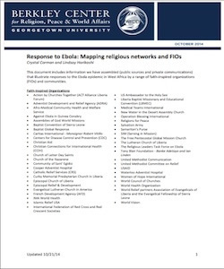 Response to Ebola: Mapping Religious Networks and FIOs