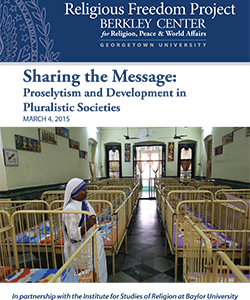 Sharing the Message: Proselytism and Development in Pluralistic Societies