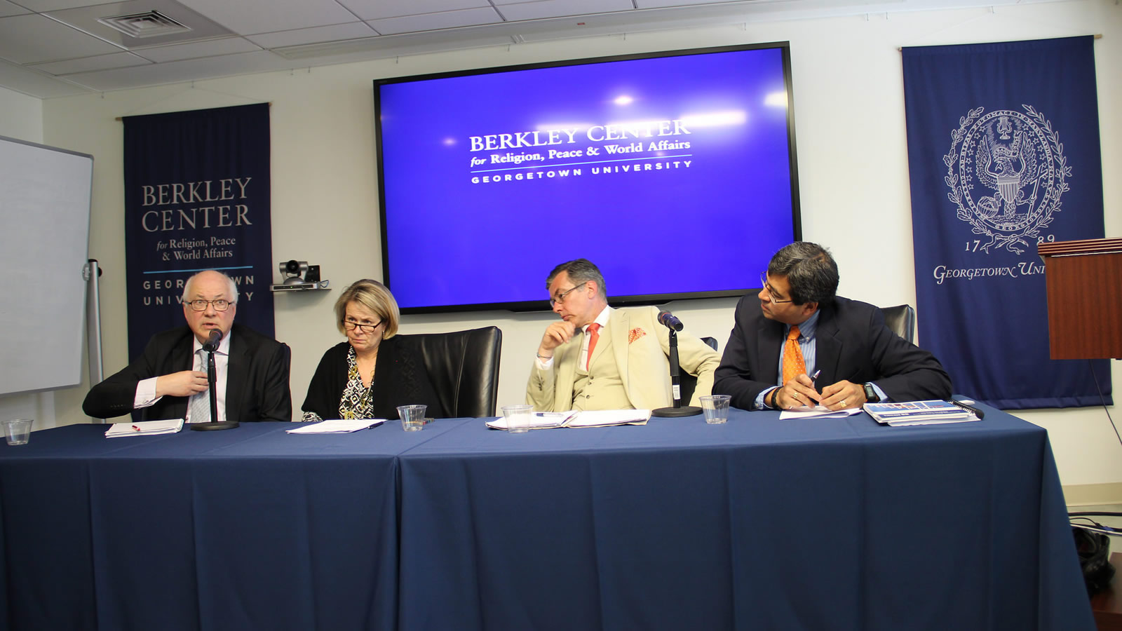 Panelists discuss the challenge of integrating religion into practical diplomatic work.