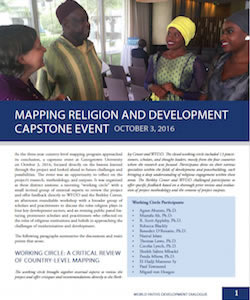 Event Summary: Mapping Religion and Development