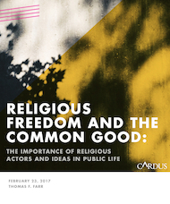 Religious Freedom and the Common Good: The Importance of Religious Actors and Ideas in Public Life